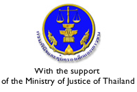 With the support of the Ministry of Justice of Thailand